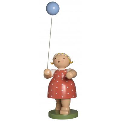 Mädchen mit Luftballon, 105 cm groß