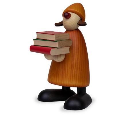 Gratulantin Lilly mit Büchern, gelb, 17 cm