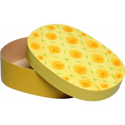 Spandose mit gelben Blüten oval, 25 cm
