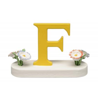 Buchstabe F mit Blumen