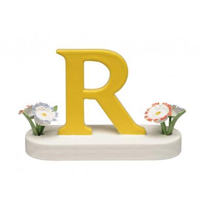 Buchstabe R mit Blumen