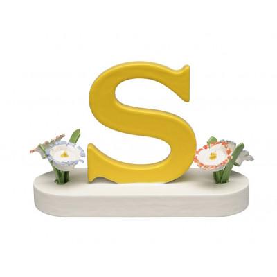 Buchstabe S mit Blumen