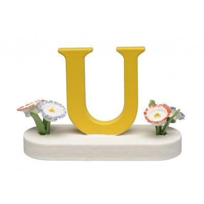 Buchstabe U mit Blumen