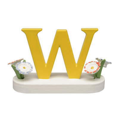 Buchstabe W mit Blumen