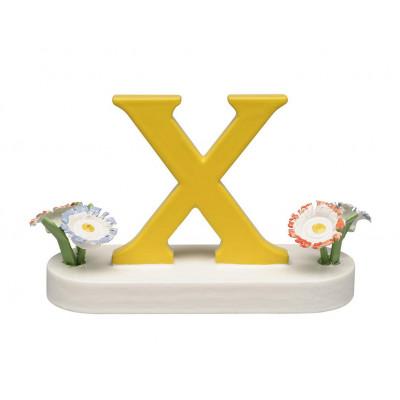Buchstabe X mit Blumen