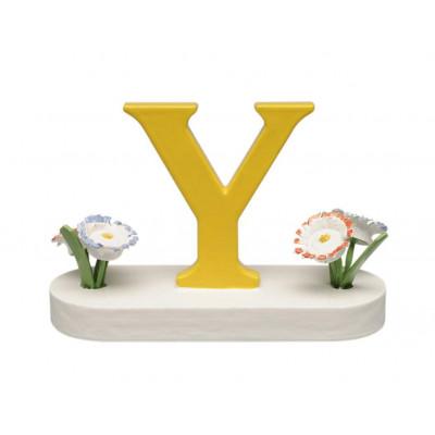 Buchstabe Y mit Blumen