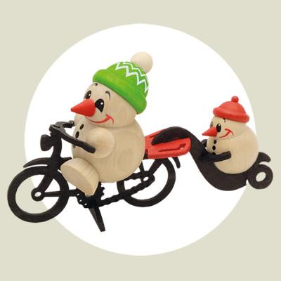 Cool-Man auf Fahrrad mit Anhang