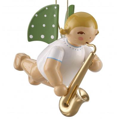 Engel mit Saxophon schwebend