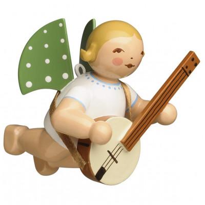 Engel mit Banjo schwebend