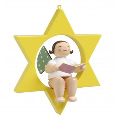 Engel mit Liederbuch im Stern