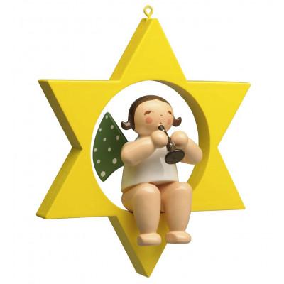 Engel mit Klarinette im Stern