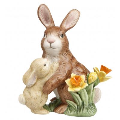 Osterhase Jahreshase 2020 Hasenpaar mit Osterglocken
