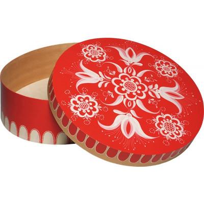 Spandose mit floralem Muster rot, groß, rund, Ø 51 cm