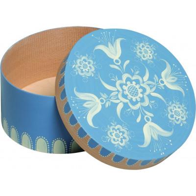 Spandose mit floralem Muster blau, klein, rund, Ø 17,6 cm