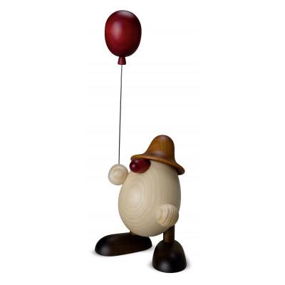 Eierkopf Otto mit Luftballon, braun