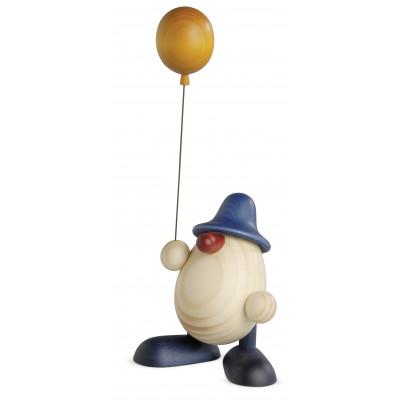 Eierkopf Otto mit Luftballon, blau