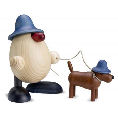 Eierkopf Rudi mit Waldi, blau
