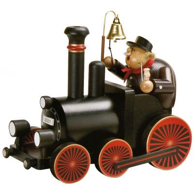 Räuchermännchen Lokführer mit Lokomotive