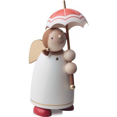 Schutzengel mit Schirm Beige, 8 cm