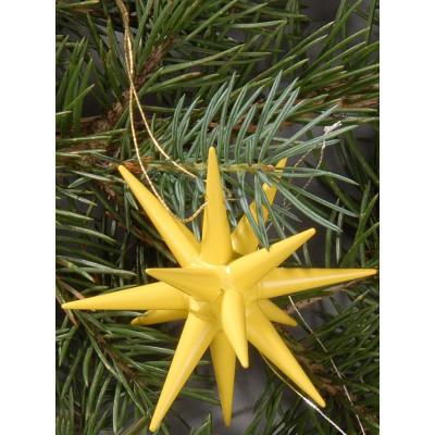 Holzsterne 6-teilig klein - gelb