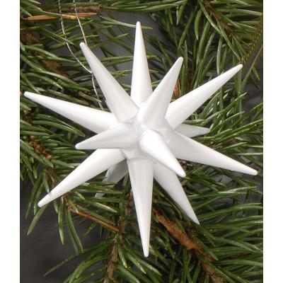 Holzsterne 6-teilig klein - weiß