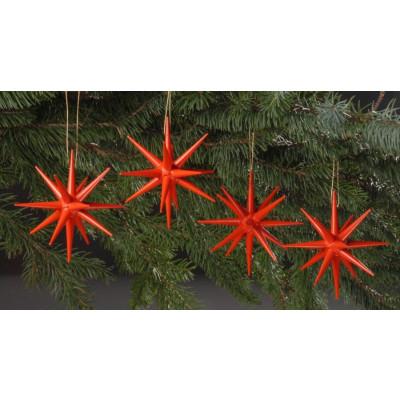 Holzsterne 4-teilig groß - rot