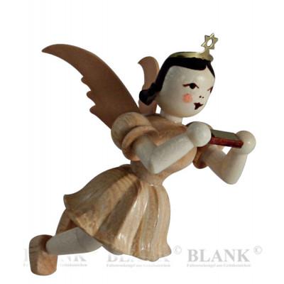 Engel schwebend mit Mundharmonika