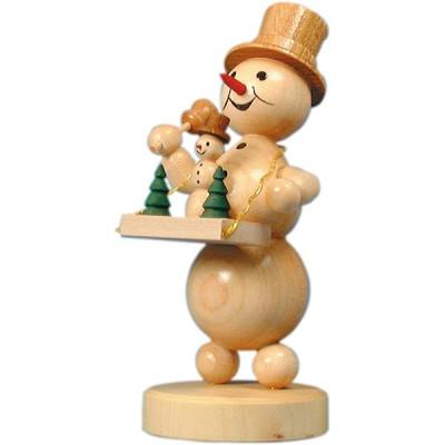 Schneemann mit Bauchladen