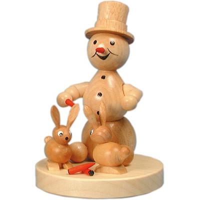 Schneemann mit Hasen