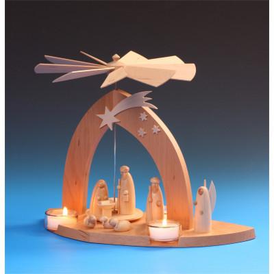 Pyramide Christi Geburt mit Hirte natur