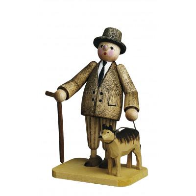 Herr mit Hund
