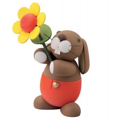 Hosen Hase Hugo mit Sonnenblume