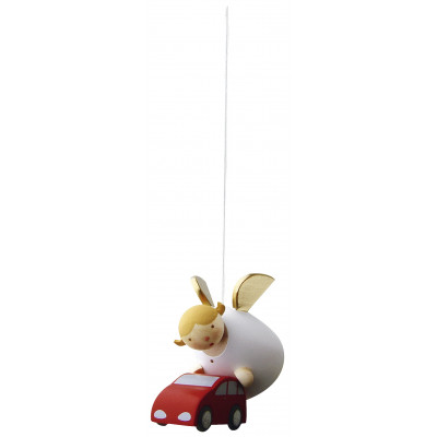 Schutzengel mit Auto schwebend