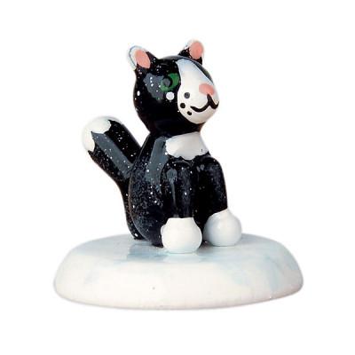 Winterkinder Katze schwarz
