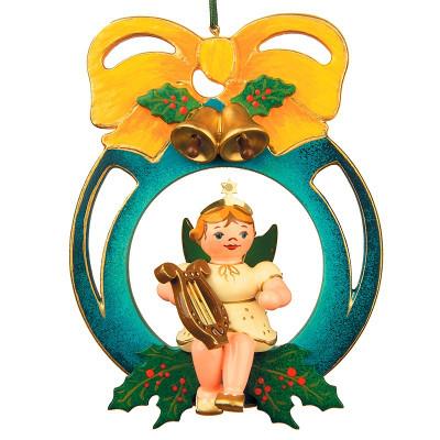 Baumbehang Engel mit Kugel und Laute