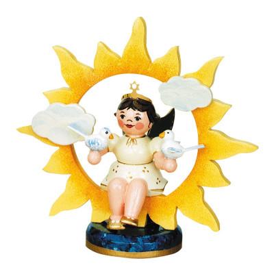 Engel Sonne mit Tauben