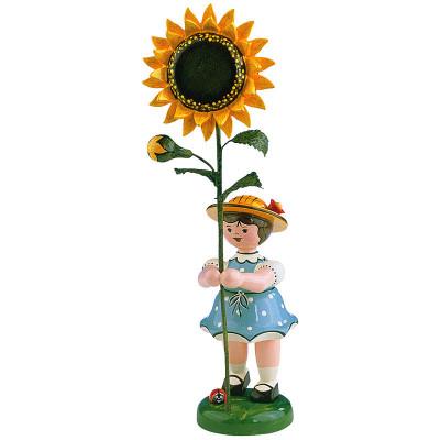 Blumenkind Mädchen Sonnenblume