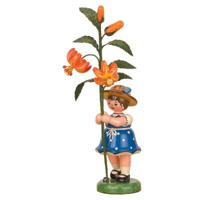 Blumenkind Mädchen mit Lilie