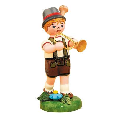 Musikkind Junge mit Trompete