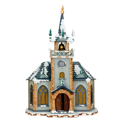 Winterkinder Winterhaus Kirche