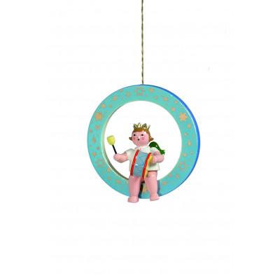 Engel mit großer Trommel im blauen Ring