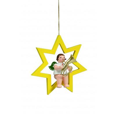 Engel mit Tenorhorn im Stern
