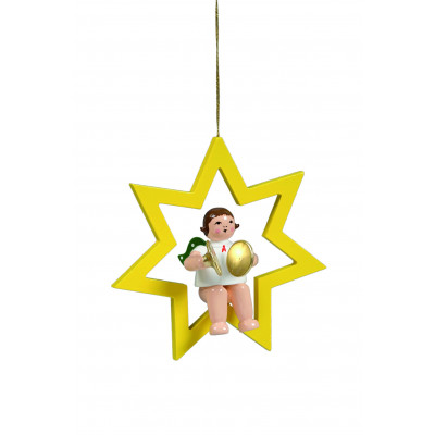 Engel mit Becken im Stern