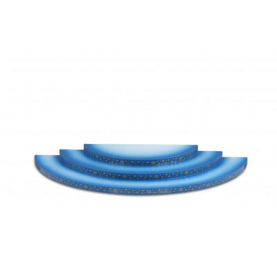 Wolke 3-stufig blau/weiß