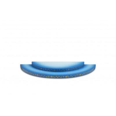Wolke 2-stufig blau/weiß