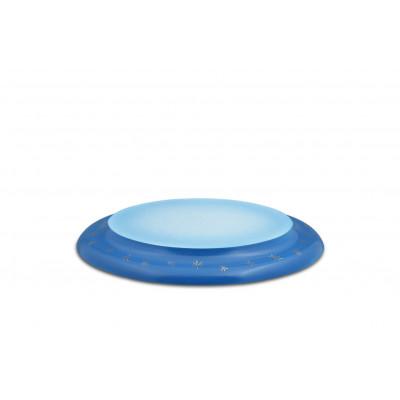 Wolke oval blau/weiß