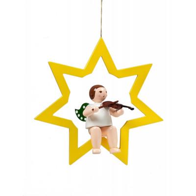 Engel im Stern mit Geige, 38 cm