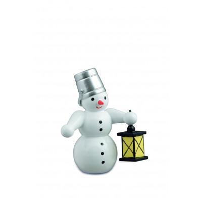 Schneemann mit Lampe