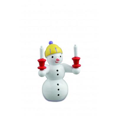 Schneemann mit Kerzen