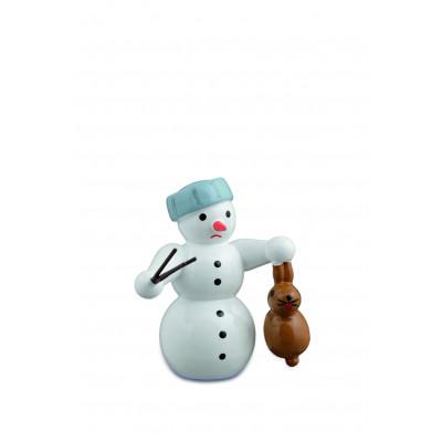 Schneemann mit Hase